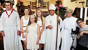 Confirmation with Bishop Fenty